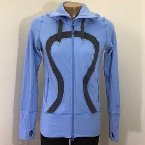Lululemon Blue Stride Zipup Hoodie Jacket Size 6